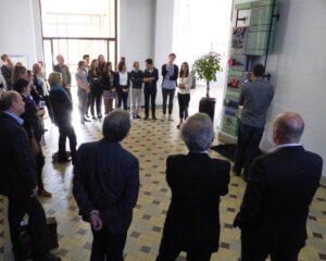 Photo inauguration Totem des mécènes - 10 avril 2015